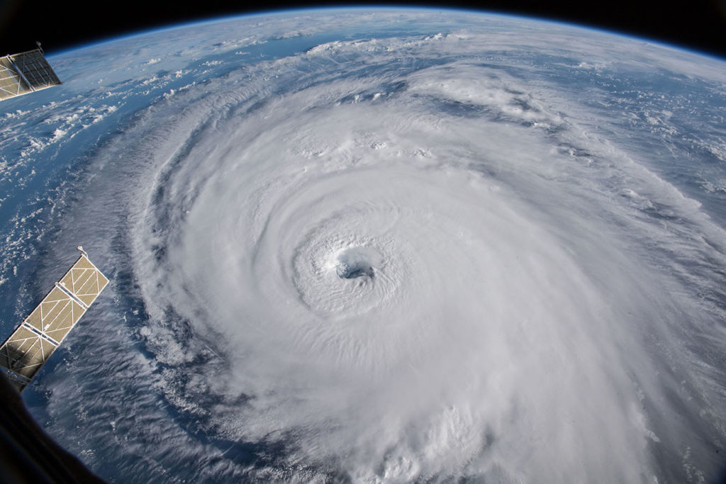 Hurricane Florence seen from space.