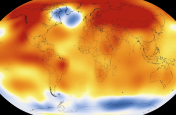 Heat map of world in 2015