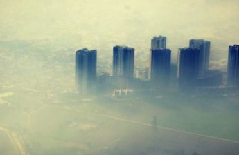 Polluted air over Dehli