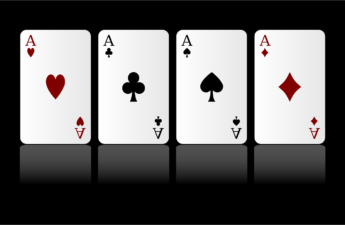 Four Aces, Ace of Hearts, Clubs, Spades and Diamonds